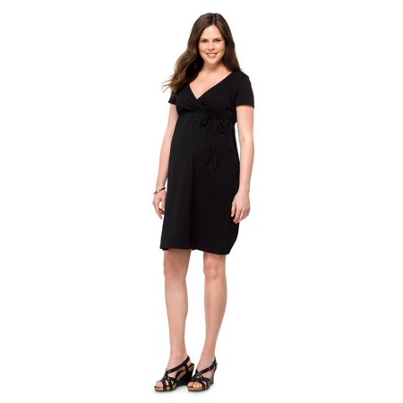 d070017862273 Liz Lange Maternity - Maternity Short Sleeve Nursing Friendly Dress Black L-Liz  Lange 15422907 - Walmart.com