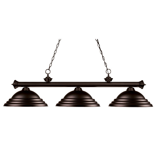 Red Barrel Studio Zephyr 3-Light Bell Shade Billiard Ligh...