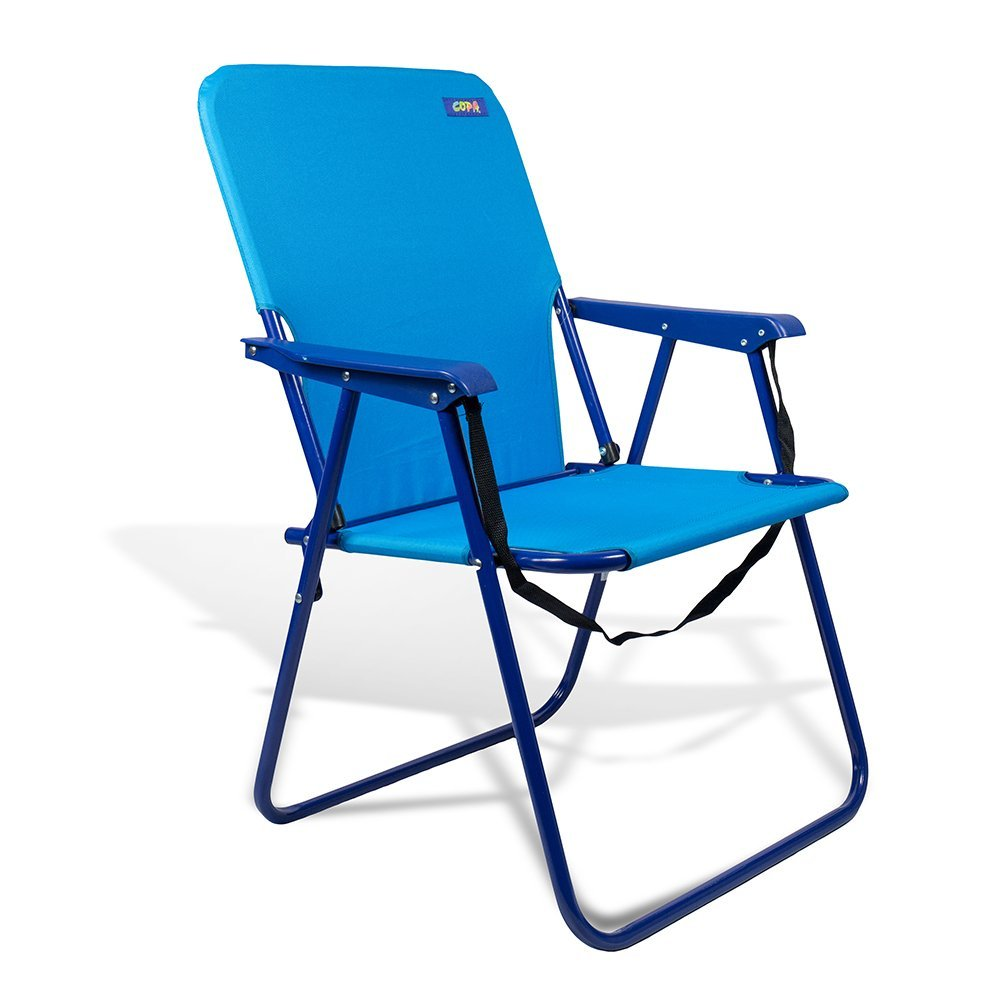 "Beach & Camping Sturdy Chair 15"" Height with Shoulder Strap and Back Pouch"