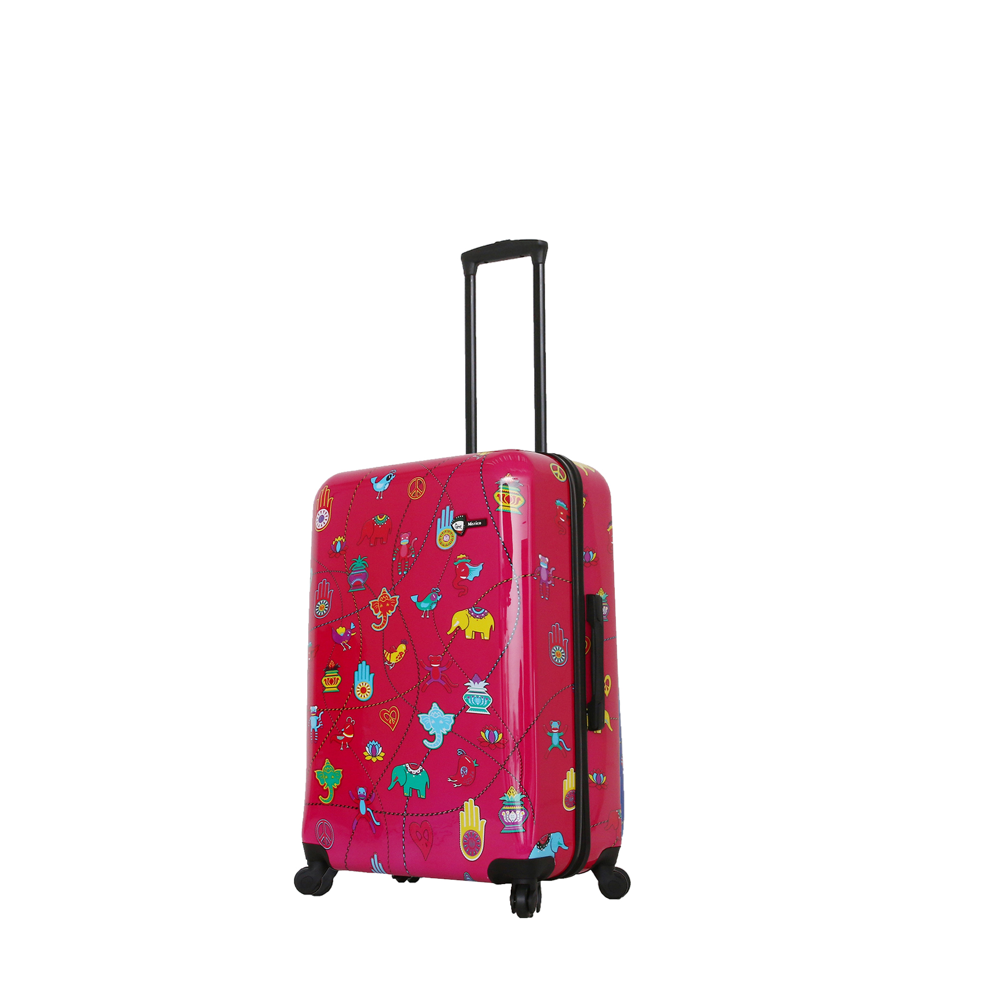 Mia Toro Italy-Mistico Hardside Spinner Luggage 3pc Set-Pink