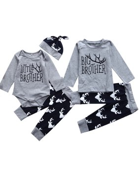 Product Image Toddler Baby Little Brother Romper Bodysuit Big Boy T-shirt  Top Matching Outfits 53875f20f