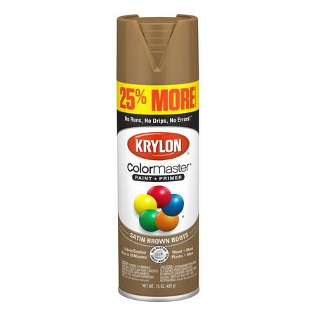 Krylon® ColorMaster Paint + Primer Satin Brown Boots, 15-Oz