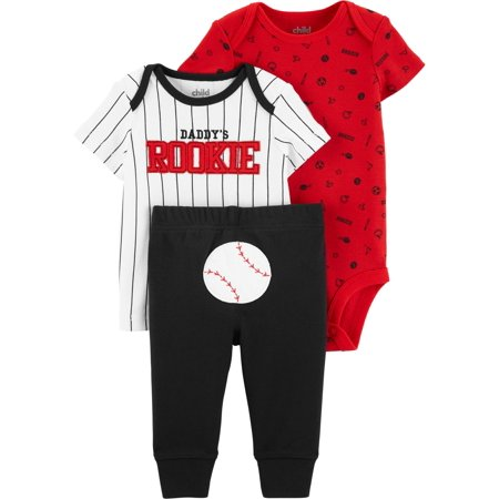 Short Sleeve T-Shirt, Bodysuit, and Pants, 3 Piece Outfit Set (Baby (Best Post Baby Clothes)