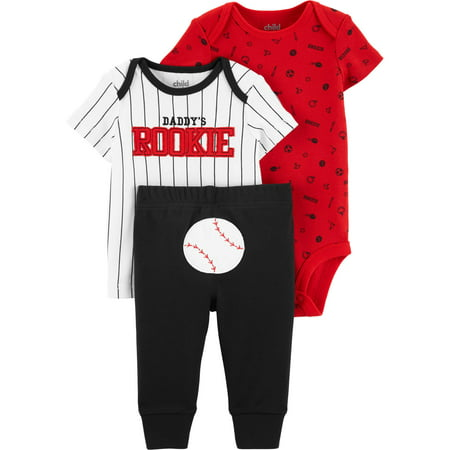 Short Sleeve T-Shirt, Bodysuit, and Pants, 3 Piece Outfit Set (Baby Boys)](Rhino Outfit)