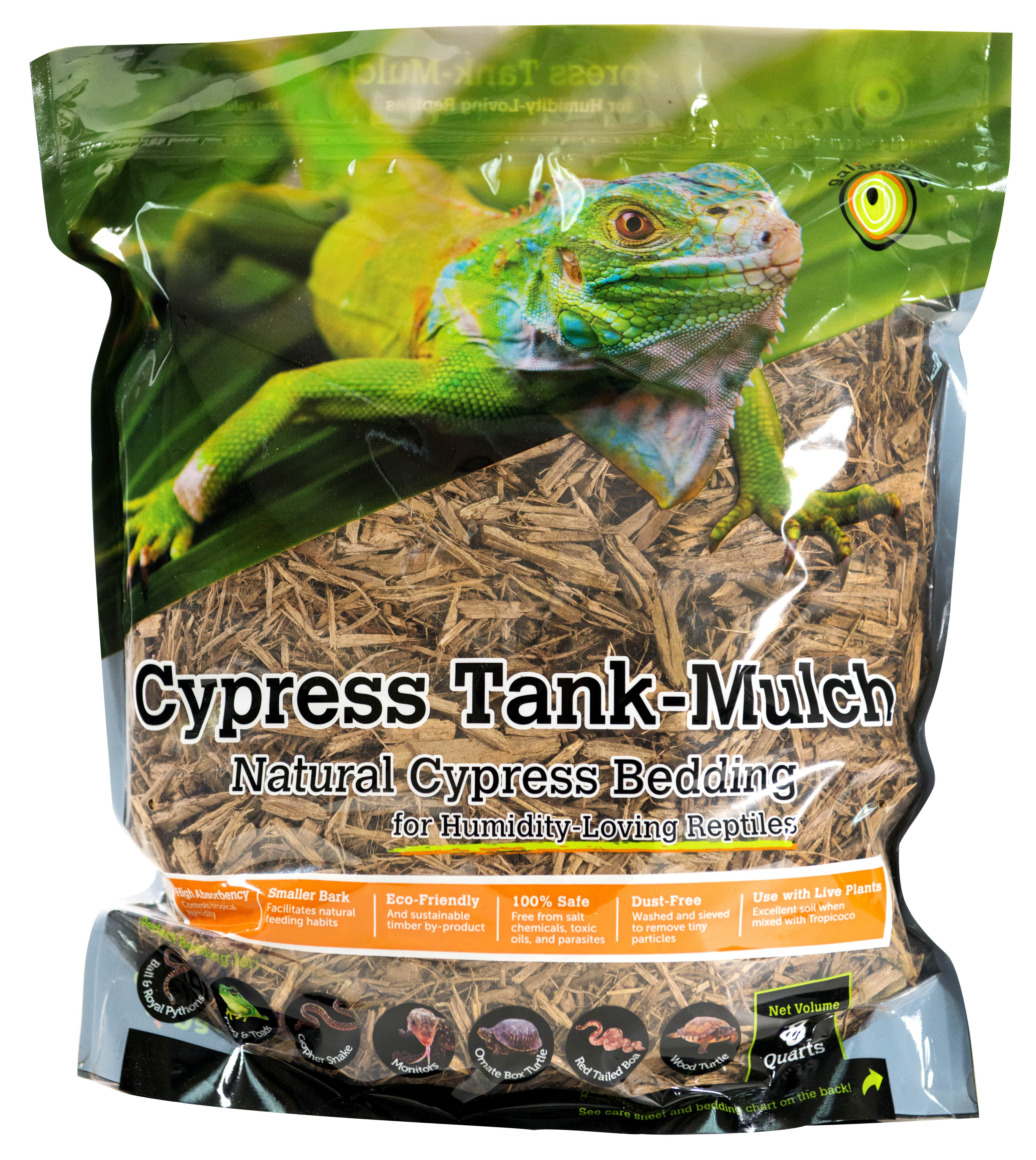 Galapagos (05054) Cypress Tank Mulch, Natural, 8qt Stand-Up Pouch