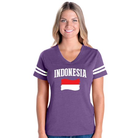 Indonesia Womens V-Neck Fine Jersey Tee