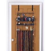 LONGSTEM ® Organizer Tie Belt Rack Hanging Closet Valet Accessory Storage Organizer in Black