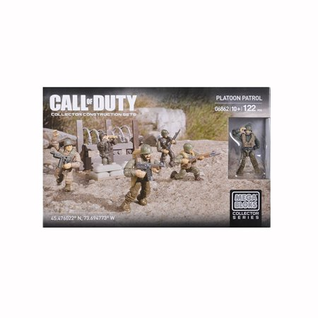 - , Call of Duty, Exclusive Platoon Patrol Set, Five super-poseable legendary WWII era micro action figures, including a medic By Mega Bloks Ship from US
