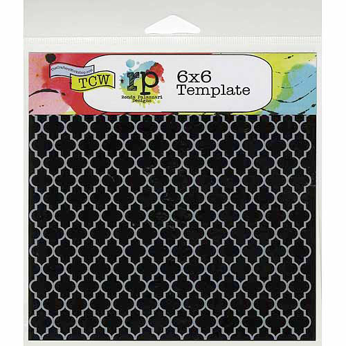 Crafters Workshop Crafters Workshop Template, 6 by 6-Inch, Quatrefoil Multi-Colored