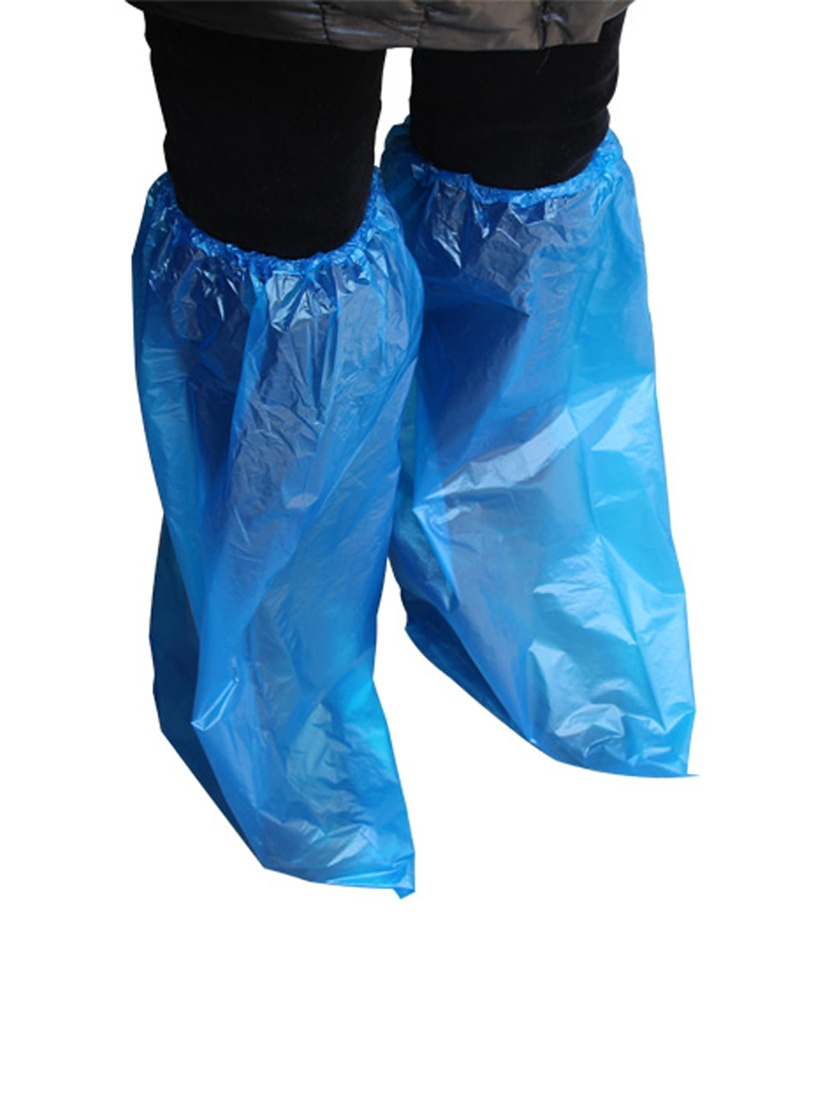 10 Pair Waterproof Knees Covers Plastic Disposable Shoe Covers Overshoes by Unique-Bargains