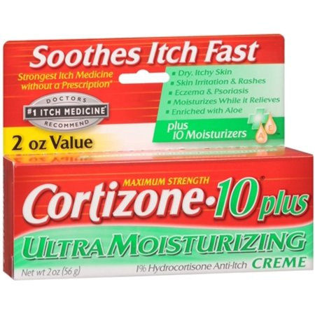 Cortizone-10 Force maximale plus Anti-Itch Crème (2 oz Paquet de 4)