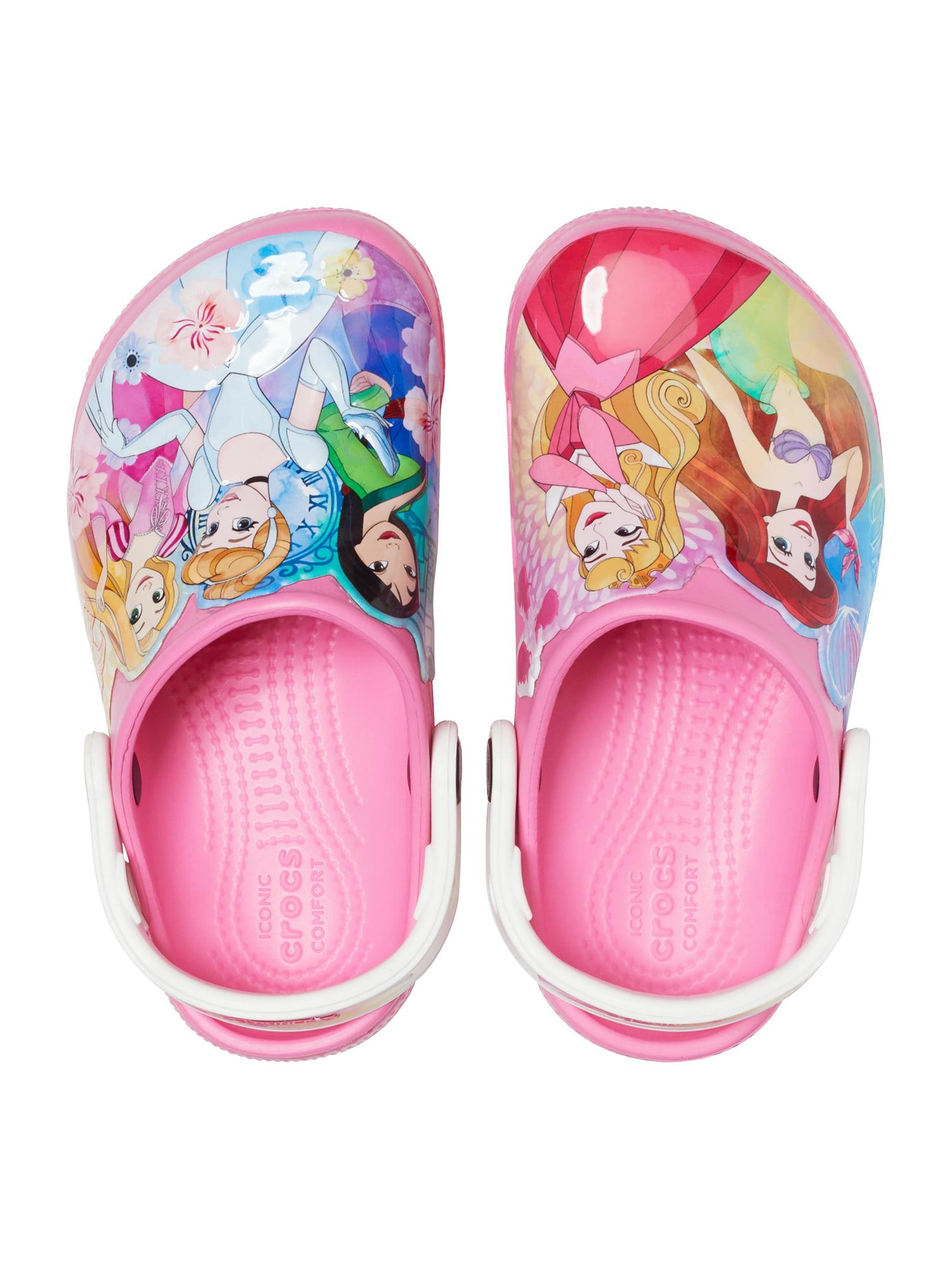 Slip-on Princess Shoes for Toddler Girls Crocs Kids Disney Clog