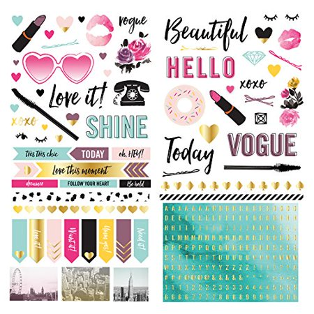 American Crafts We R Memory Keepers Urban Chic 6 x 12 Inch Accent Stickers 297 Piece - image 1 de 1