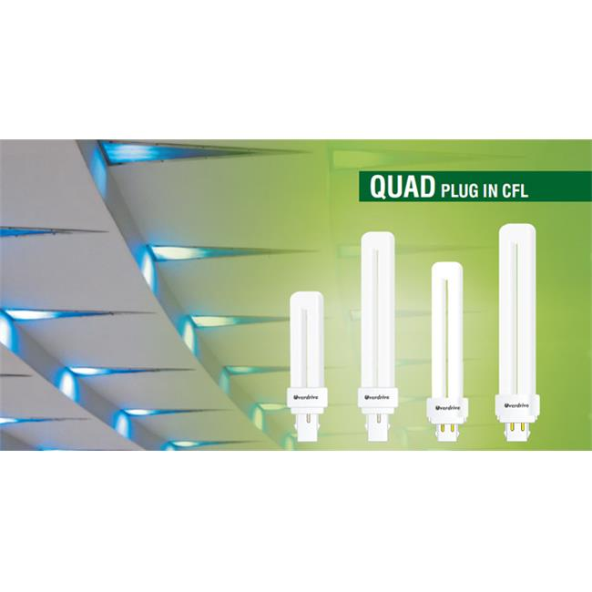 Overdrive 26W Quad 2 Pin CFL -4100K, Pack Of 100
