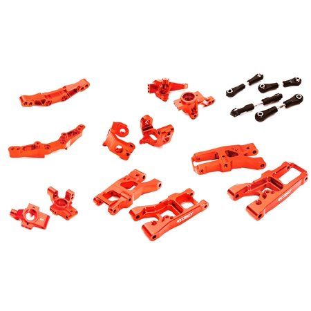 Billet 4 Conversion (Integy RC Toy Model Hop-ups C28347RED Billet Machined Suspension Kit Conversion for Traxxas 1/10 4-Tec 2.0)