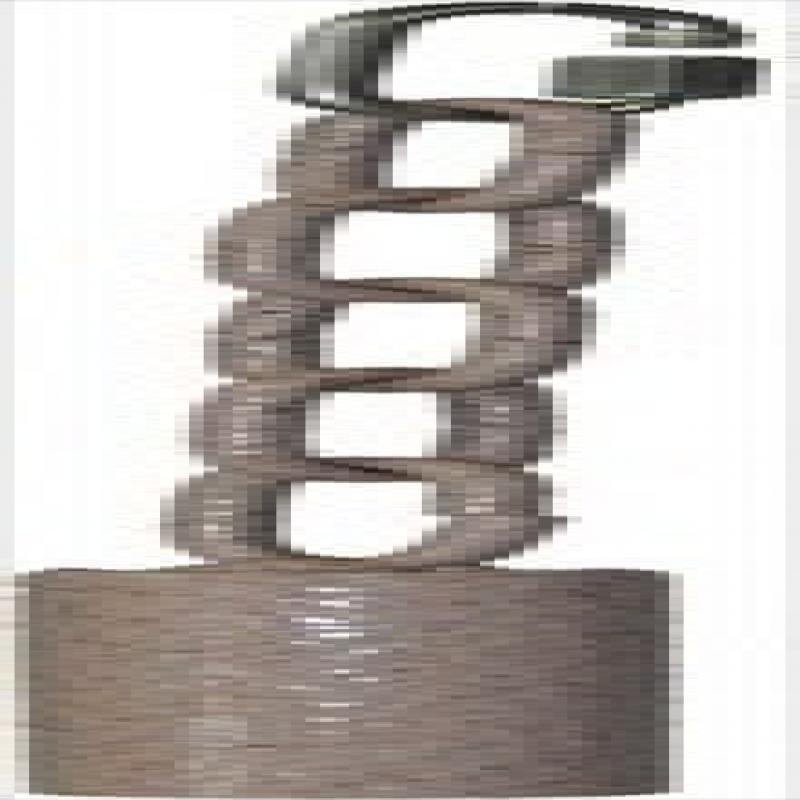 Image of A Cage AE001 Platinum Small Metal Pipe Bell On A Chain
