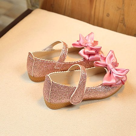Mosunx Children Girl Fashion Princess Bowknot Dance Nubuck Leather Single (Teva Nubuck Shoes)