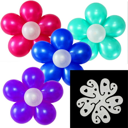 The Elixir Party Pack of 75 Double-layer 11-in-1 Clear White Plastic Decorative Deco Balloon Arch Folder Convenient Clips Tie Multiple Accessories (Balloon Clip Only), 3 inch