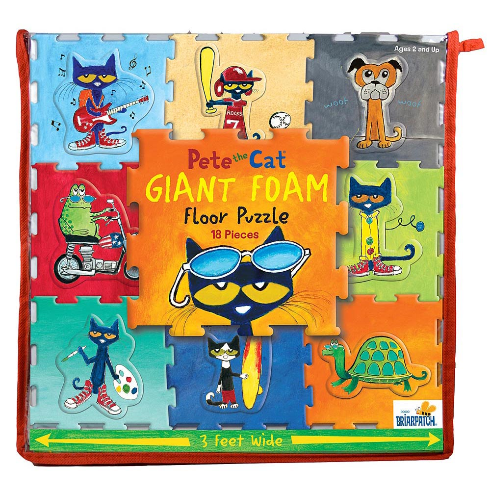 Pete The Cat Giant Foam Floor Puzzle: 18 Pcs
