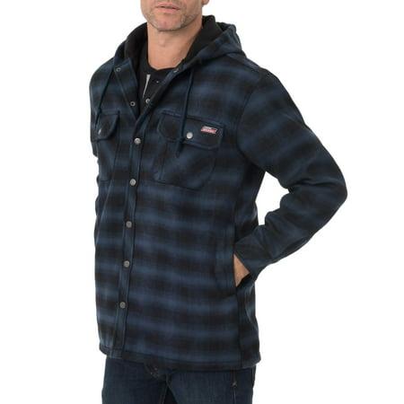 (Dickies Men's Twill Polar Fleece Lined Shirt Jacket)