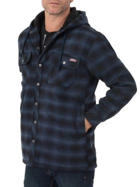 Genuine Dickies Men's Twill Polar Fleece Lined Shirt Jacket