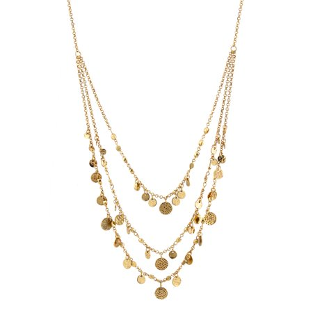 TAZZA WOMEN'S OXIDIZED ANTIQUE LOOK VINTAGE GOLD-TONE COINS LAYERED NECKLACE #SWR-CP1985