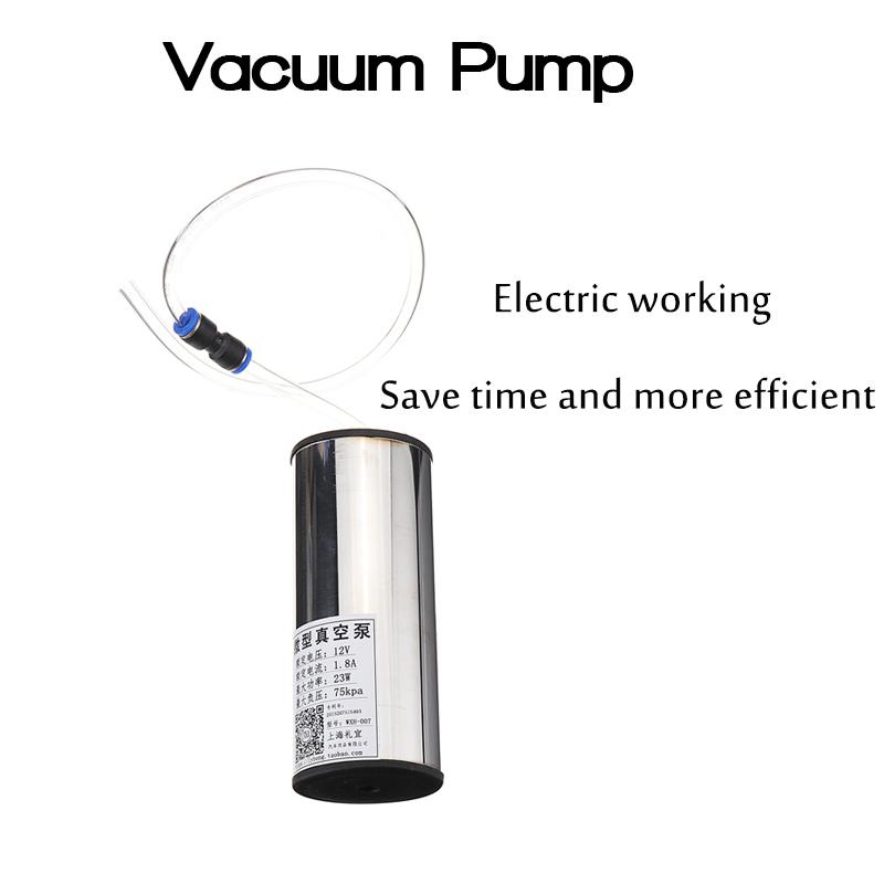 2L//0.5 Gal Barrel Goat Milking Machine Electric Vacuum Pump Sheep Milker 2 Teats