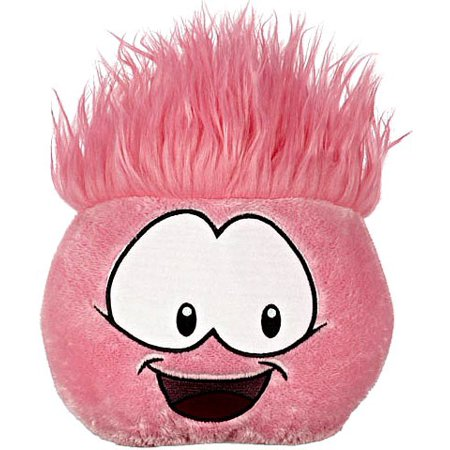 Disney Club Penguin 8 Inch JUMBO Puffle Plush Pink {RANDOM Facial Expression!} [Includes Coin with (Club Penguin Dress Codes For Non Members)