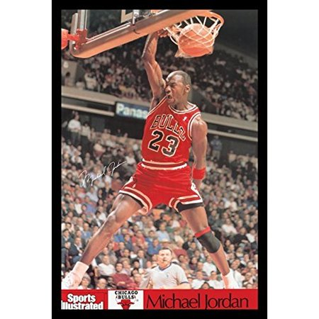 Buy Art For Less 'Michael Jordan - Sports Illustrated Dunk' Framed Photographic Print