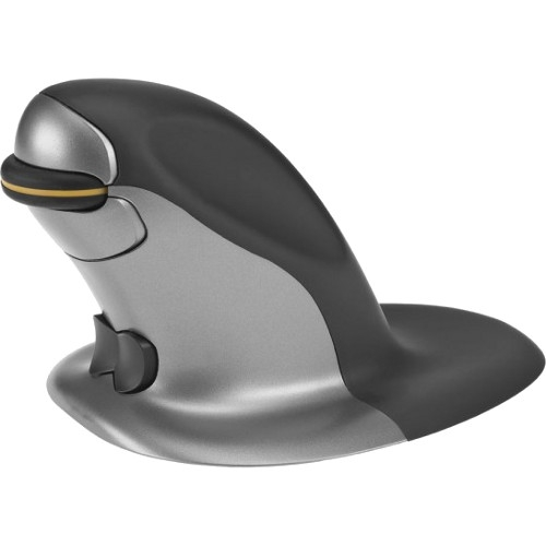 Posturite 9820098 Penguin Ambidextrous Vertical Mouse, Small, Wired