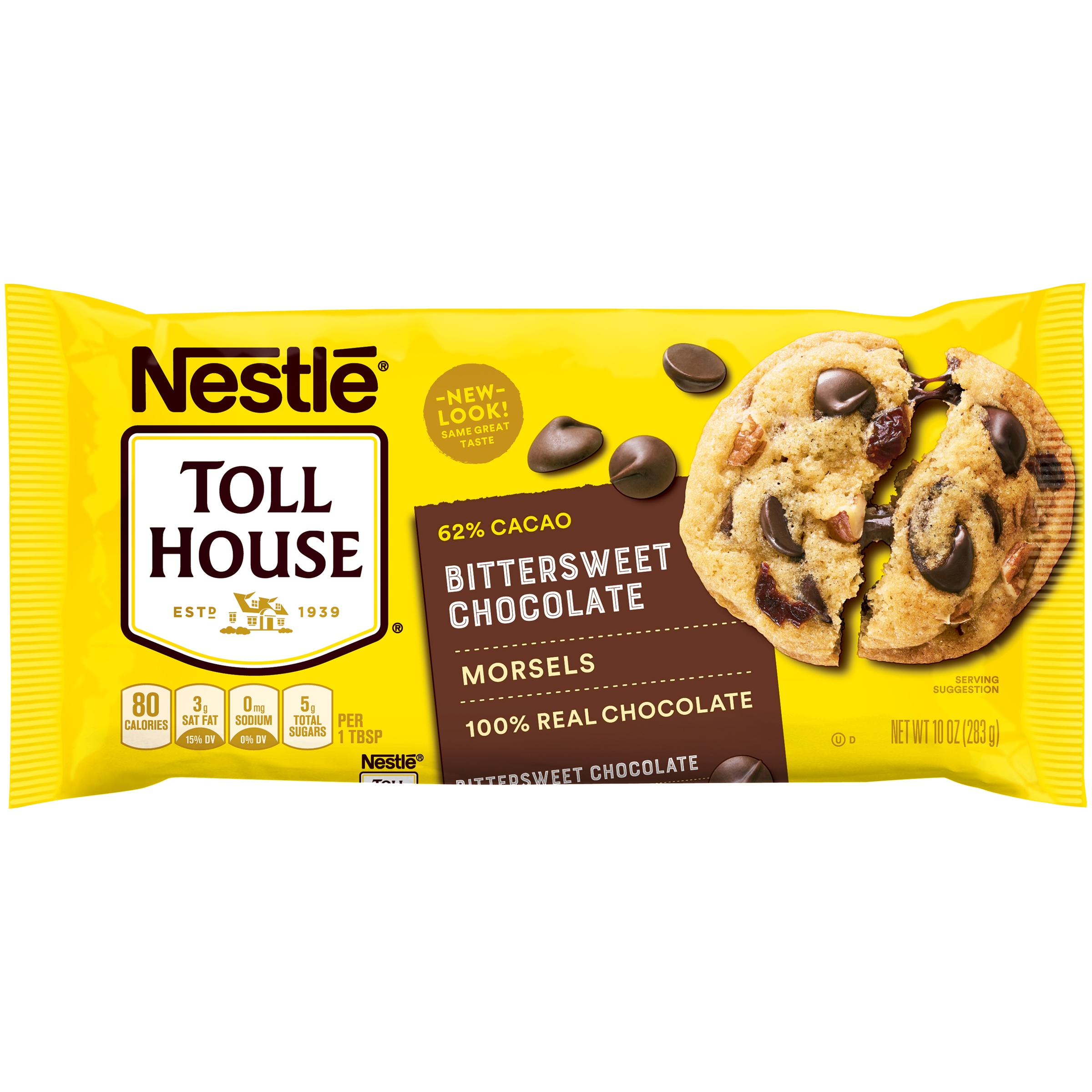(2 Pack) NESTLE TOLL HOUSE 62% Cacao Bittersweet Chocolate Morsels 10 oz. Bag