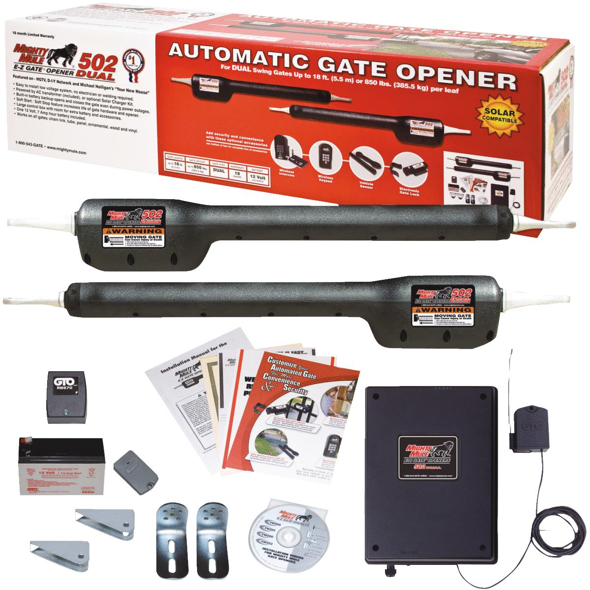 Mighty Mule Heavy-Duty Dual Electric Gate Opener