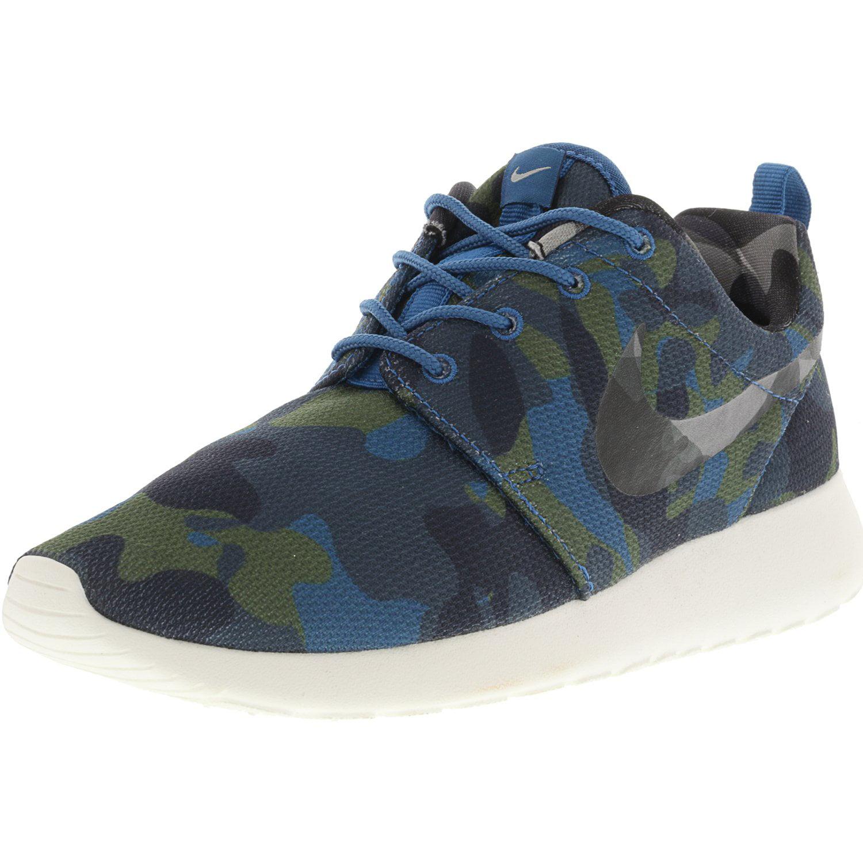 3b6f488c3a0 Nike Women s Roshe One Print Ember Glow   Black-Black-White Ankle ...
