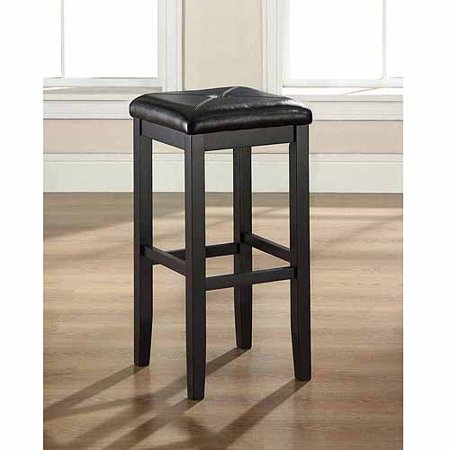 Crosley Furniture Upholstered Square Seat Bar Stool With 29  Seat Height  2Pk