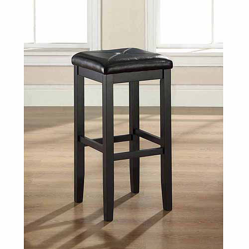"Crosley Furniture Upholstered Square Seat Bar Stool with 29"" Seat Height, 2pk"