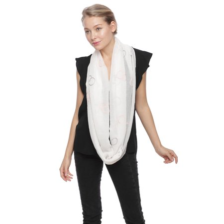 Polka Dot Scarves (Sassy Scarves Women's Polka Dot Embroidery Infinity)
