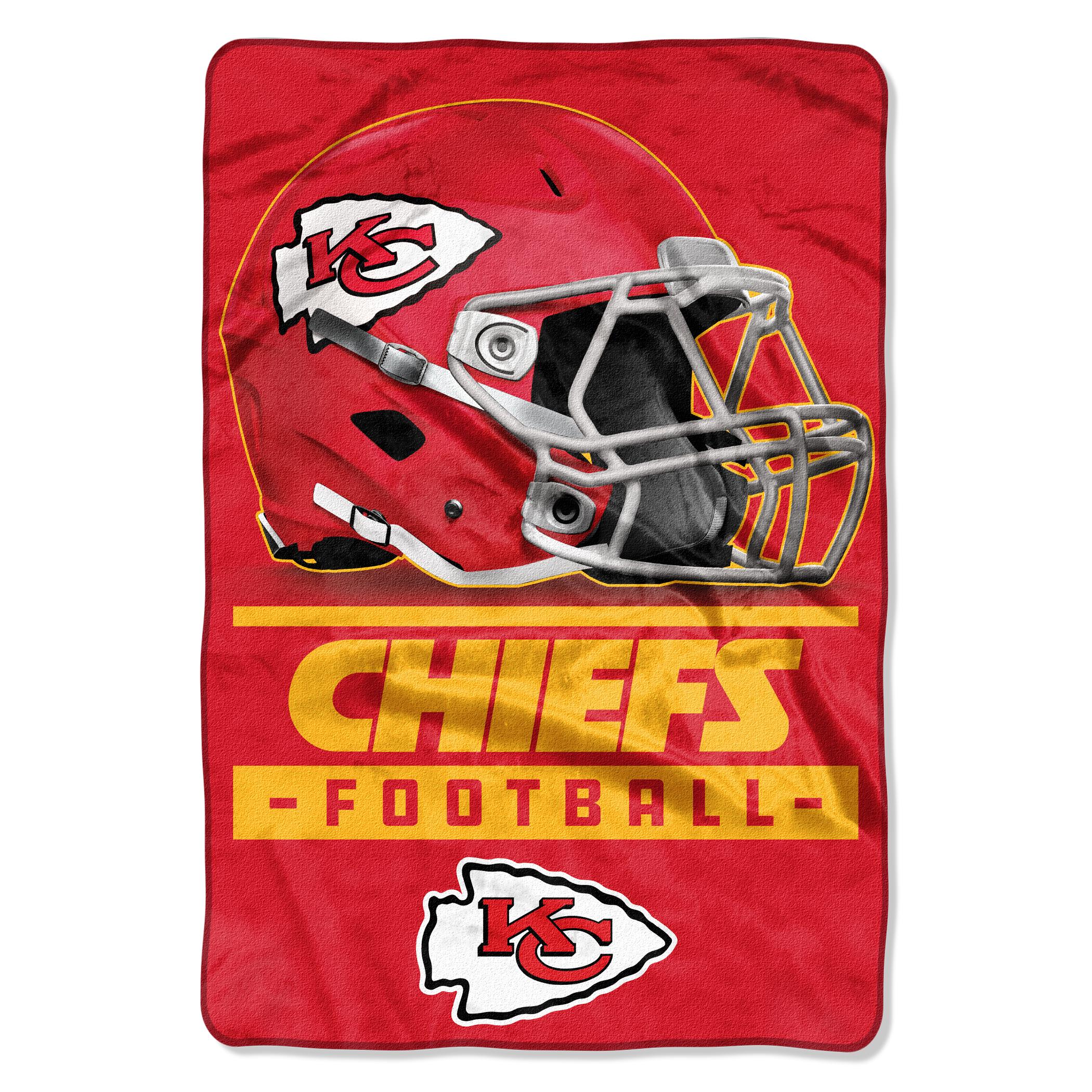 "NFL Kansas City Chiefs Sideline Oversized Micro Raschel Throw 62"" x 90"" Blanket, 1 Each"