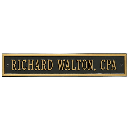- Personalized Whitehall Products 15-Inch Arch Extension Address Plaque in Black/Gold