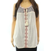 Two By Vince Camuto NEW White Ivory Women's Large L Embroider Tank Top $79