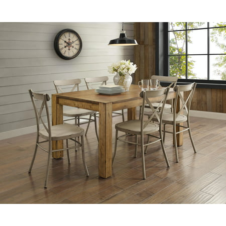 Better Homes Gardens Bryant Dining Table Rustic Brown Best Dining Room Tables