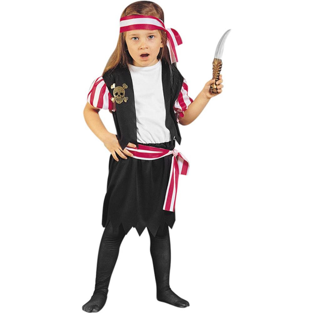 Toddler Carribean Pirate Girl Costume by