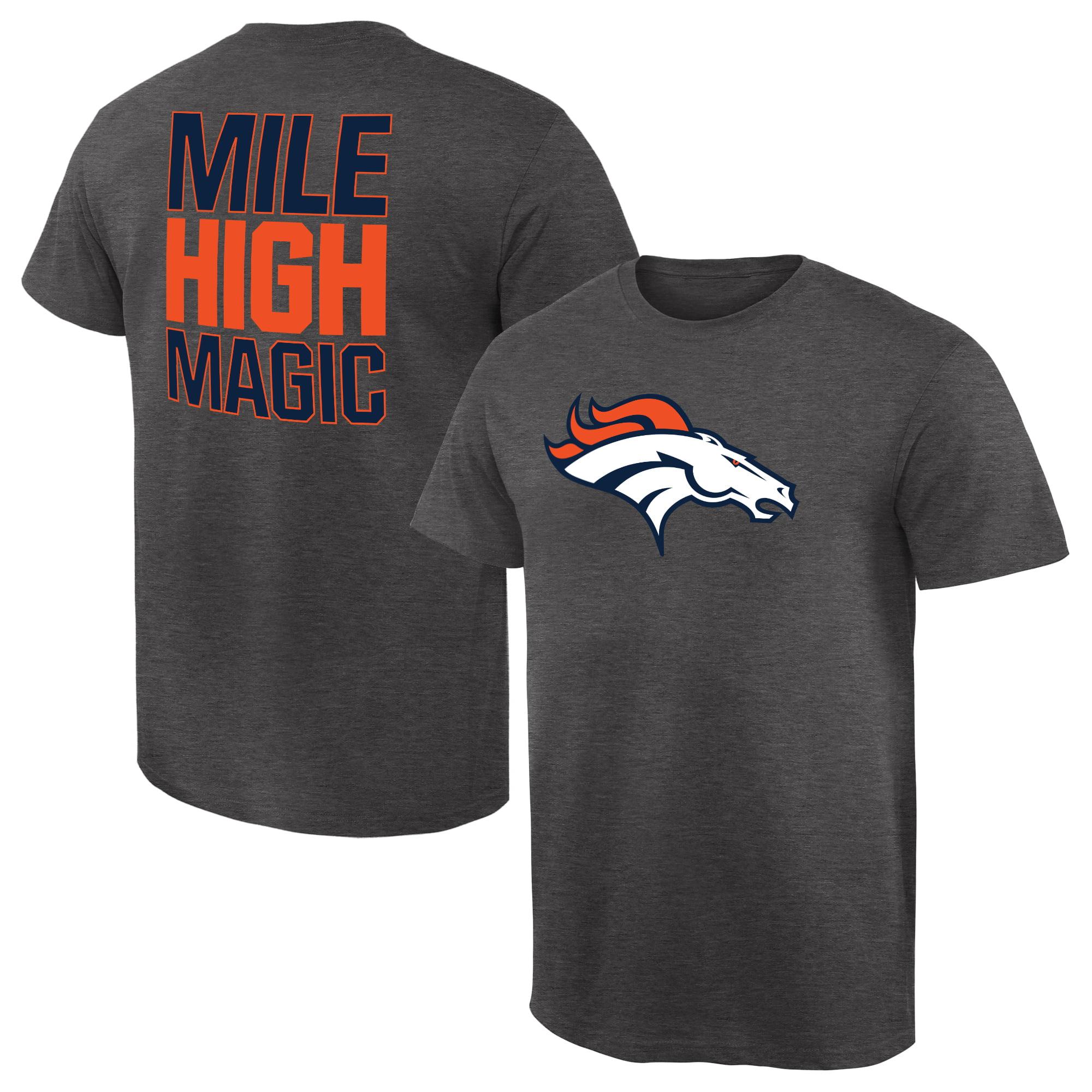 Denver Broncos NFL Pro Line by Fanatics Branded Rally Logo T-Shirt - Gray