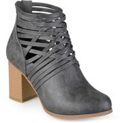 Women's Chunky Heel Strappy Round Toe Booties
