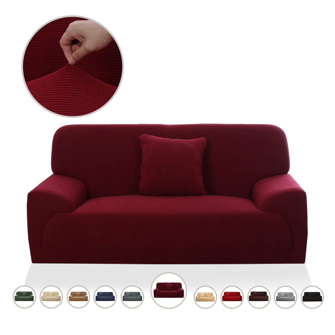 PiccoCasa Stretch Jacquard Furniture Sofa Covers Slipcovers for 1 2 3 4 Seats