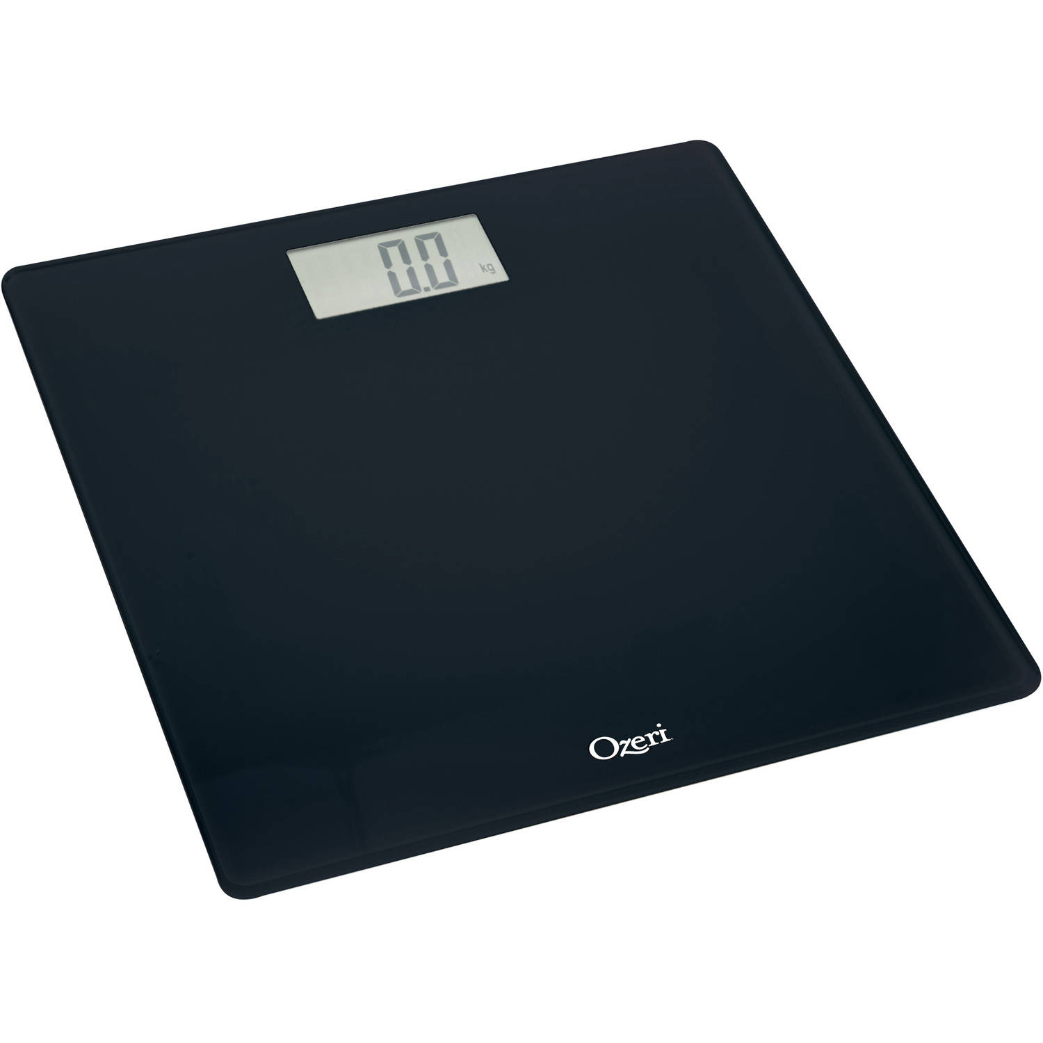 ozeri precision digital bath scale 400 lbs edition in tempered glass with step