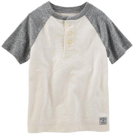 Milk Man Uniform (Carter's OshKosh Toddler Clothing Outfit Little Boys Short Sleeve Raglan Henley Wharf)