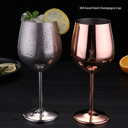Stainless Steel Red Wine Glass Copper Plated Single Layer Goblet Kitchen Tools - image 2 of 10