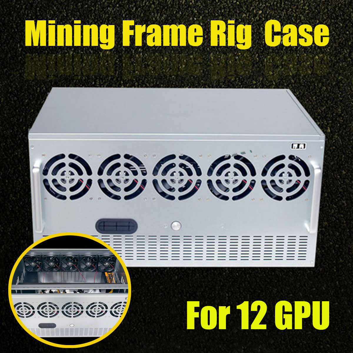 12 Gpu Crypto Coin Open Air Mining Miner Frame Rig Zec