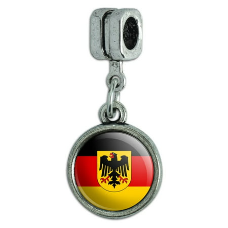 Germany with Crest National Country Flag Italian European Style Bracelet Charm Bead