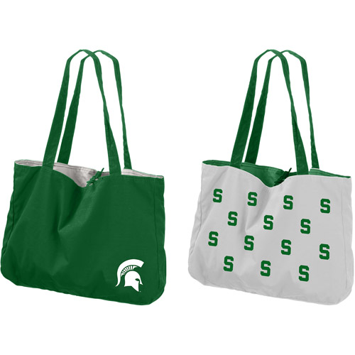 Logo Chair NCAA Michigan State Reversible Tote Bag